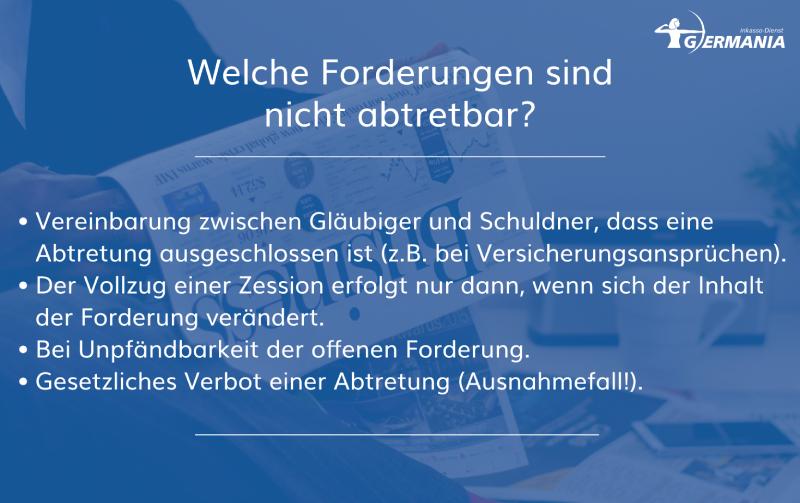 Welche Forderungen Sind Nicht Abtretbar? Germania Inkasso
