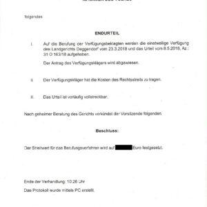 Gerichtsurteil Zur Schufa Einmeldung Protokoll Endurteil Seite 3