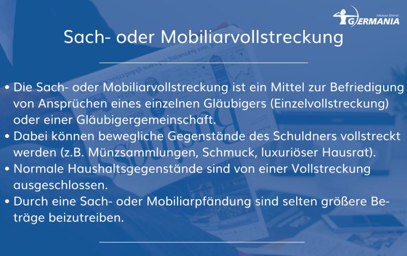 Sach- Oder Mobiliarvollstreckung   Germania Inkasso