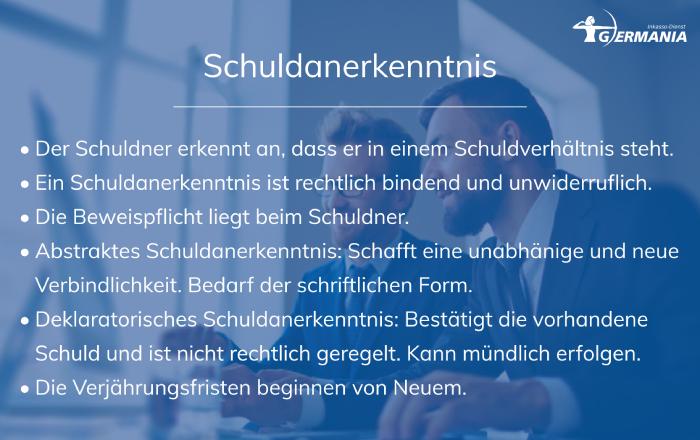 Schuldanerkenntnis   Germania Inkasso
