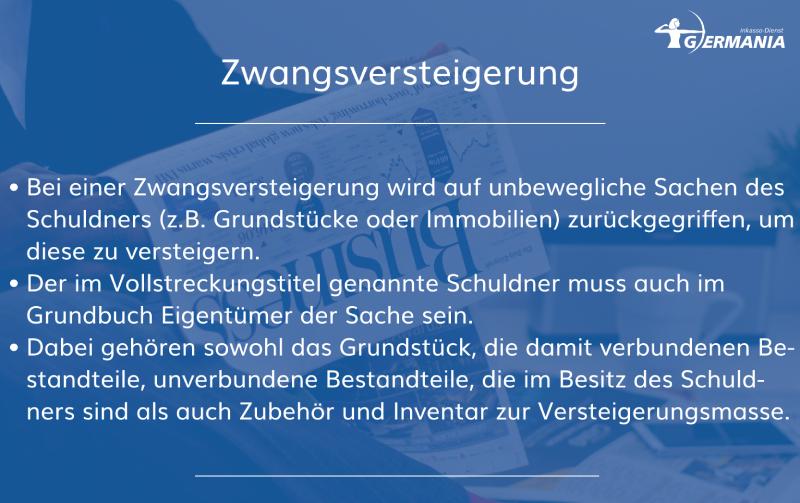 Zwangsversteigerung   Germania Inkasso