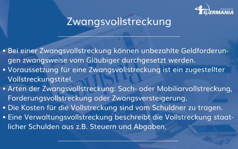 Zwangsvollstreckung   Germania Inkasso