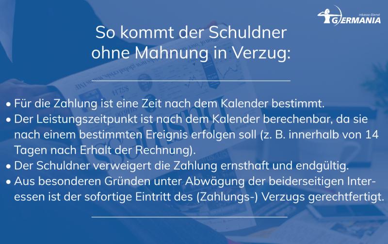 Schuldner Ohne Mahnung In Verzug | Germania Inkasso