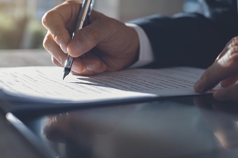 Vertrag Unterschreiben Auslandinkasso Inkassobüro