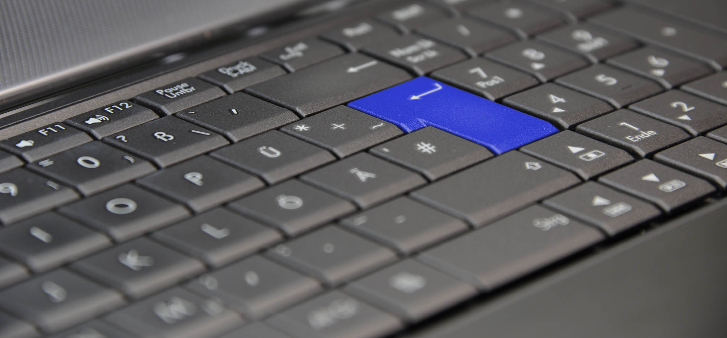 Blaue Taste Auf Tastatur Individuelles Inkasso Germania Inkasso