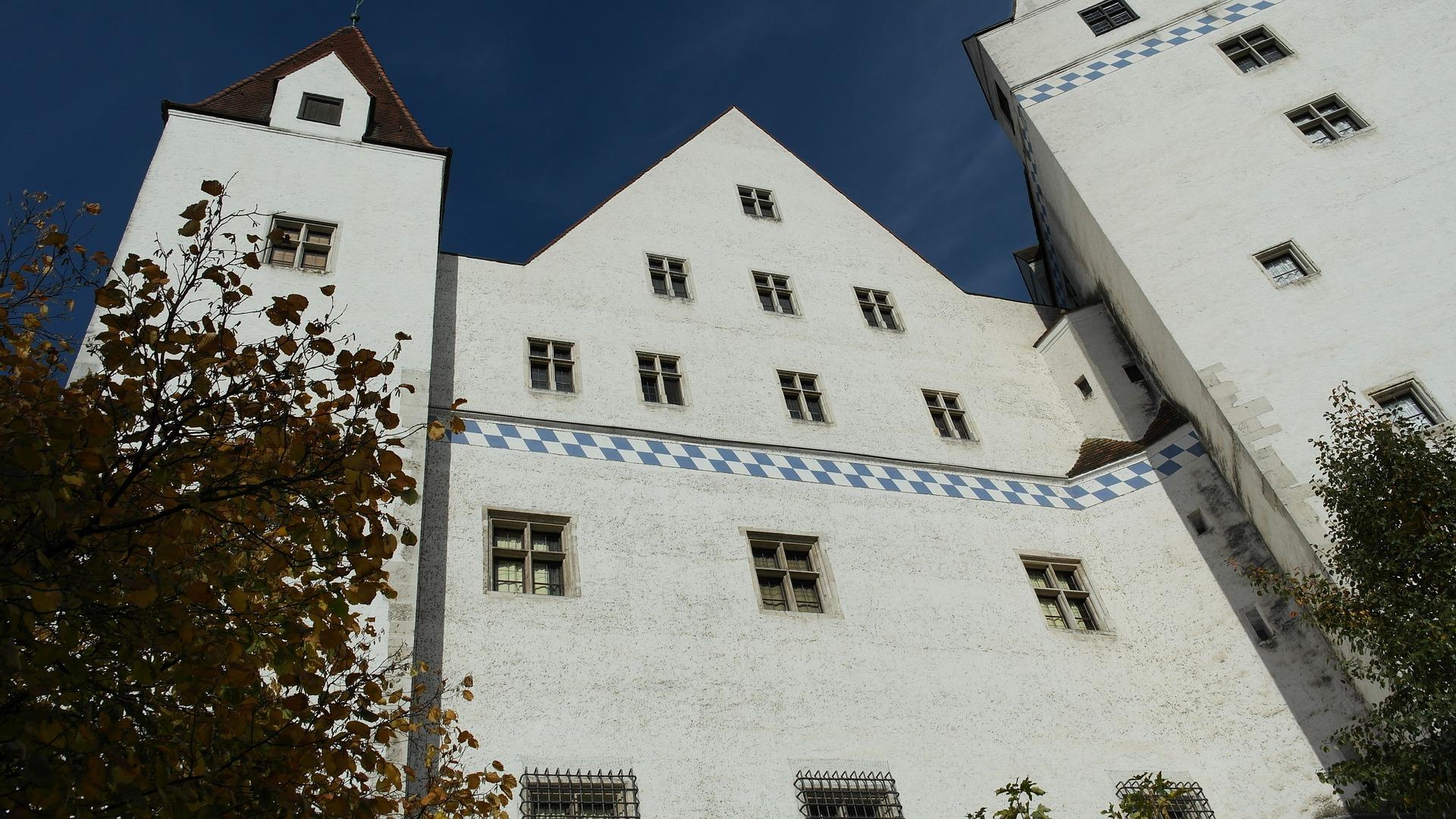 Aussicht Auf Eine Burg In Ingolstadt Von Unten