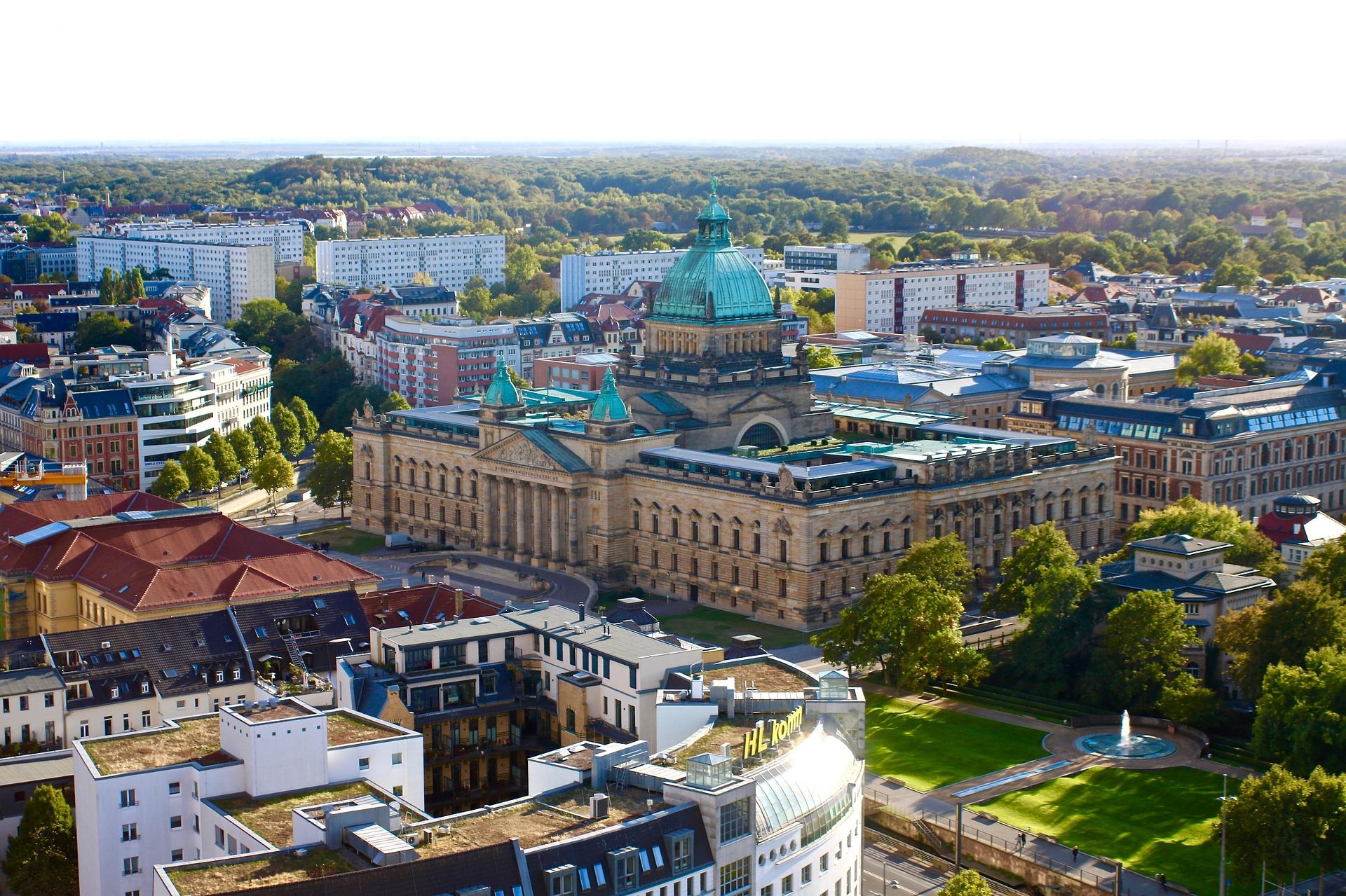 Aussicht über Die Leipziger Altstadt