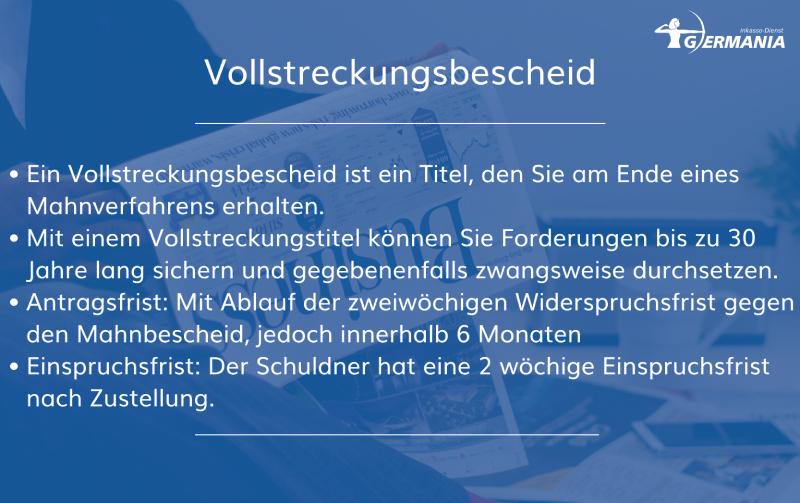 Vollstreckungsbescheid | Germania Inkasso