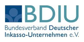 Germania Ist Mitglied Im Logo Bundesdienst Deutscher Inkasso-Unternehmen E.V.