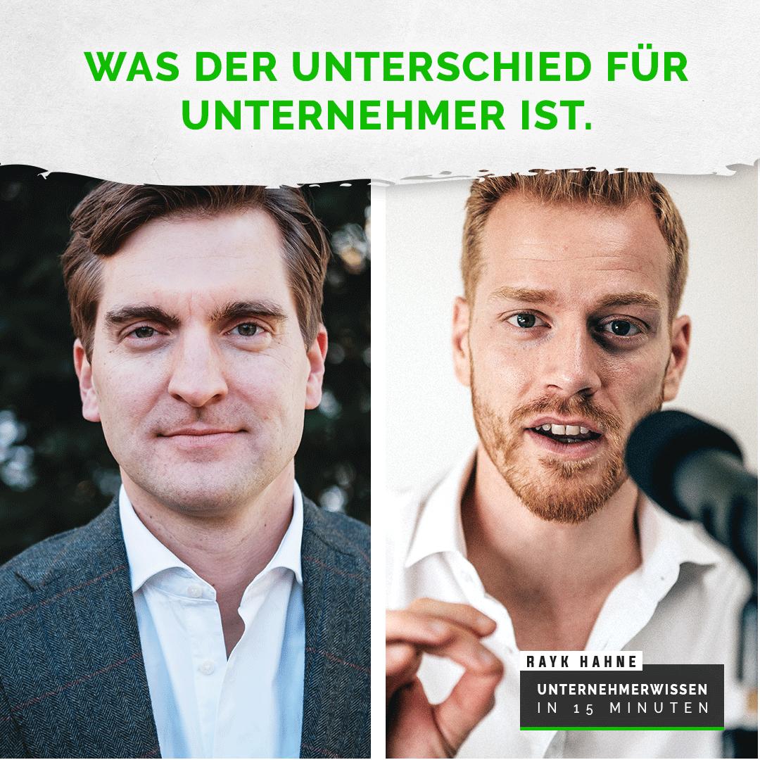 Hendrik Schlereth Und Rayk Hahne. Podcastfolge Was Der Unterschied Für Unternehmer Ist | Germania Inkasso
